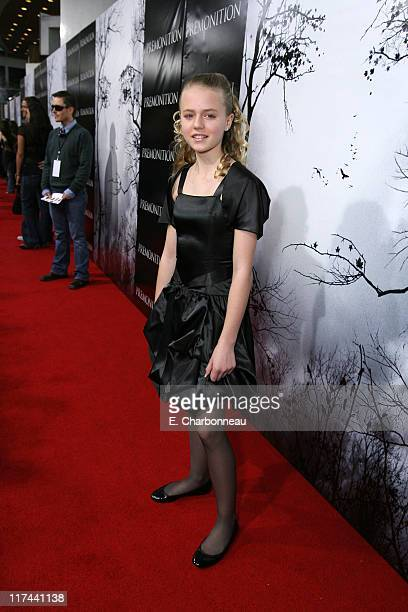 Courtney Taylor Burness during Tri Star Pictures Presents the World Premiere of Premonition at Cinerama Dome in Hollywood California United States