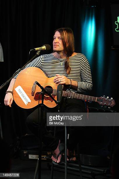 Courtney TaylorTaylor from the band The Dandy Warhols perform at Radio Staion 1045 iHeartRadio Performance Theater May 30 2012 in Bala Cynwyd...