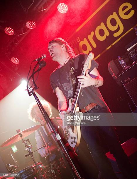 Courtney TaylorTaylor of The Dandy Warhols performs on stage at Garage on April 19 2012 in Glasgow United Kingdom