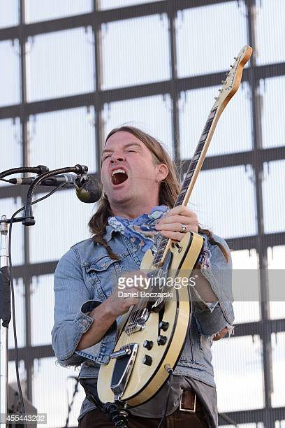 Courtney TaylorTaylor of The Dandy Warhols performs on stage at Riot Fest Chicago 2014 at Humboldt Park on September 13 2014 in Chicago United States