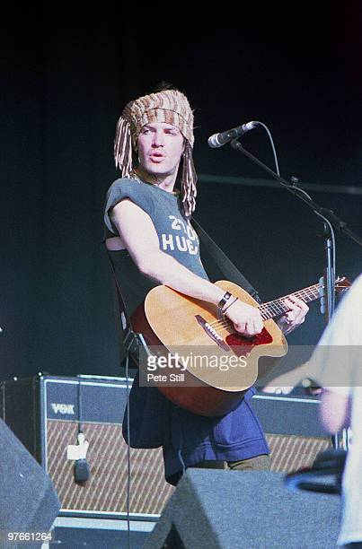 Courtney TaylorTaylor of The Dandy Warhols performs on stage at the Glastonbury Festival on June 25th 2000 in Glastonbury England