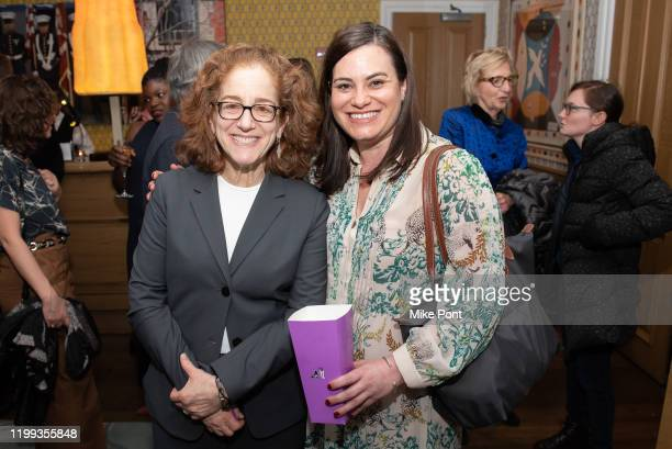 Courtney Thomasma meets with a guest during the Seven Worlds One Planet Screening at Crosby Hotel on January 13 2020 in New York City