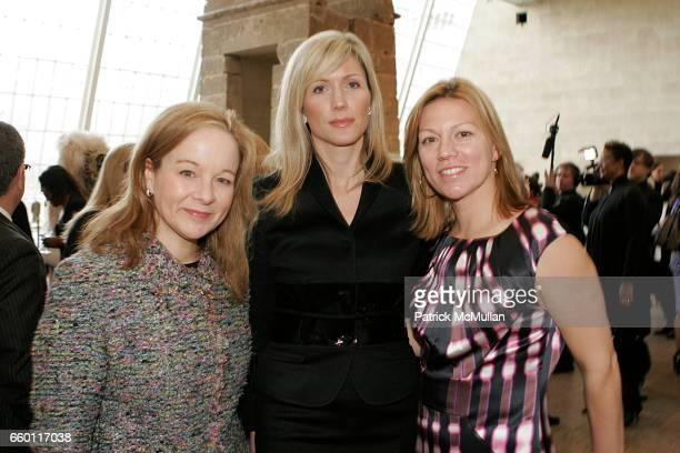 Courtney Thompson Julie Latsko and Nora Daly attend Tribute luncheon for Eunice Johnson at The Metropolitan Museum of Art on January 11 2009 in New...