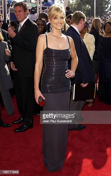 Courtney Thorne Smith with her Kathrine Baumann bag