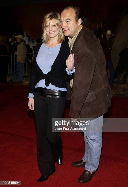 """Courtney Thorne-Smith and Jim Belushi during """"Dreamkeeper"""" ABC All-Star Winter Party at Quixote Studios in Los Angeles, California, United States."""