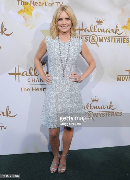 Courtney ThorneSmith arrives at the 2017 Summer TCA Tour Hallmark Channel And Hallmark Movies And Mysteries at a private residence on July 27 2017 in...