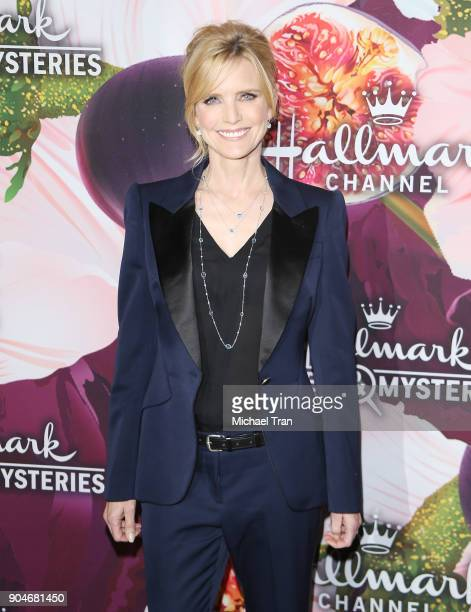 Courtney ThorneSmith arrives to the Hallmark Channel and Hallmark Movies and Mysteries Winter 2018 TCA Press Tour held at Tournament House on January...