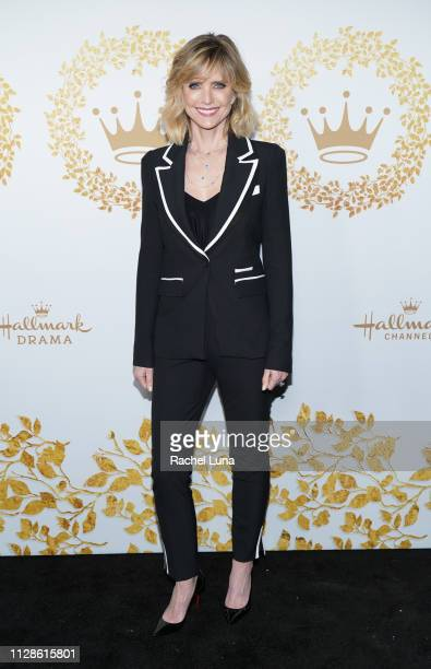 Courtney ThorneSmith attends Hallmark Channel And Hallmark Movies And Mysteries 2019 Winter TCA Tour at Tournament House on February 09 2019 in...