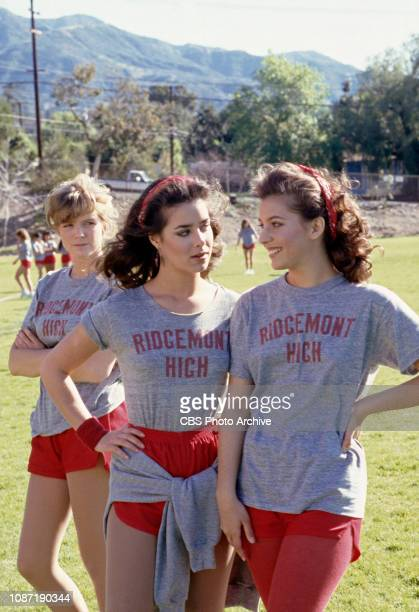 Courtney ThorneSmith Claudia Wells and Moon Unit Zappa star in Fast Times a CBS television sitcom based on the theatrical movie Fast Times at...