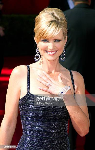 Courtney Thorne-Smith during The 55th Annual Primetime Emmy Awards - Arrivals at The Shrine Theater in Los Angeles, California, United States.