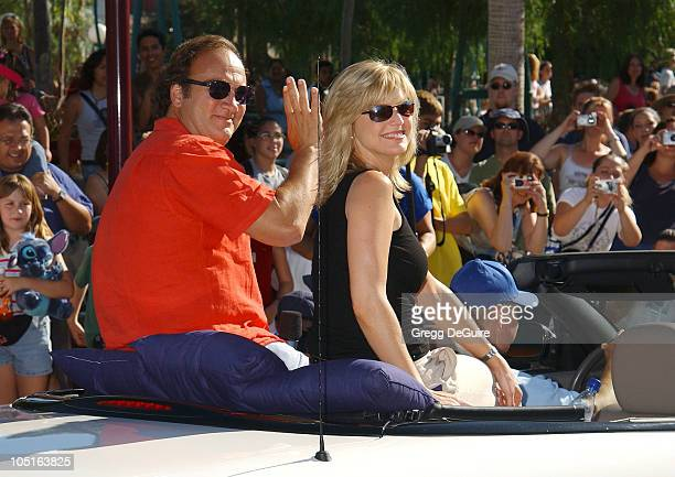 Courtney ThorneSmith Jim Belushi during ABC Primetime Preview Weekend at Disney's California Adventure in Anaheim California United States