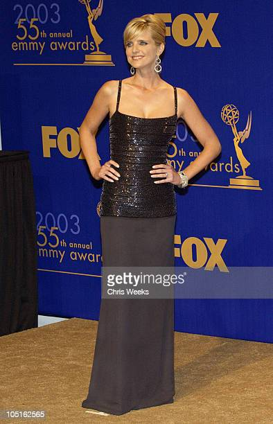 Courtney Thorne-Smith presenter of the award for Outstanding Guest Actor/Actress in a Comedy Series at the 55th annual Emmy Awards