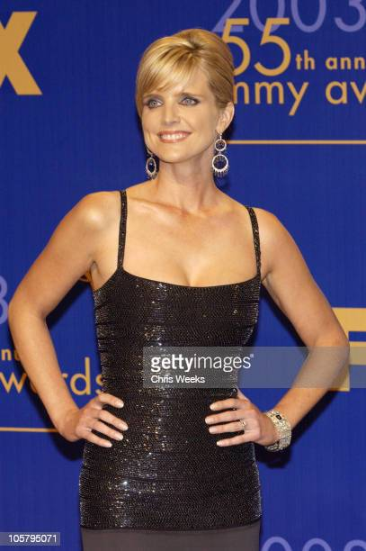Courtney ThorneSmith presenter of the award for Outstanding Guest Actor/Actress in a Comedy Series at the 55th annual Emmy Awards