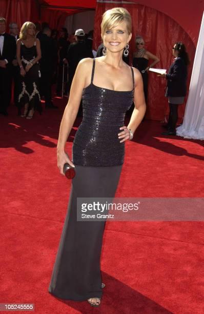 Courtney Thorne-Smith with her Kathrine Baumann bag