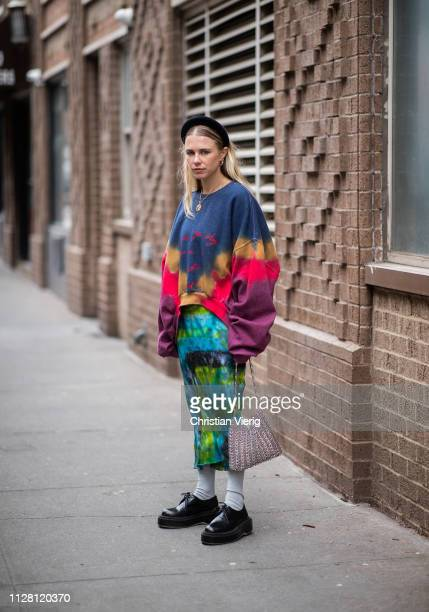 Courtney Trop is seen outside Collina Strada during New York Fashion Week Autumn Winter 2019 on February 07 2019 in New York City