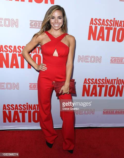 Courtney Turk arrives at the Premiere Of Neon And Refinery29's Assassination Nation at ArcLight Hollywood on September 12 2018 in Hollywood California
