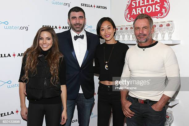 Courtney Turk Matthew J Malek Anita Gou and Ken Fournier attend the 'To The Bone' Premiere Party at the Stella Artois Filmmaker Lounge on January 22...