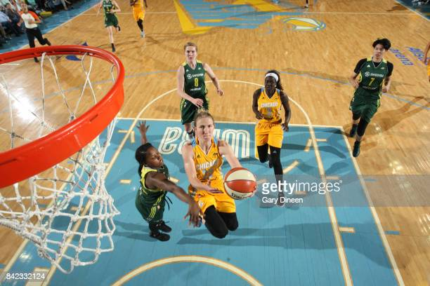 Courtney Vandersloot of the Chicago Sky goes for a lay up against the Seattle Storm on September 3 2017 at Allstate Arena in Rosemont IL NOTE TO USER...