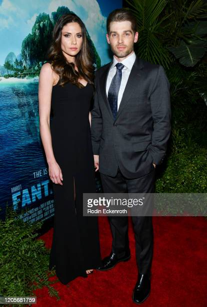 Courtney Vogel and Mike Vogel attend the Premiere Of Columbia Pictures' Blumhouse's Fantasy Island at AMC Century City 15 on February 11 2020 in...