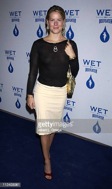 Courtney Wagner during Launch Party For WET By Beefeater at Henson Studios in Hollywood California United States