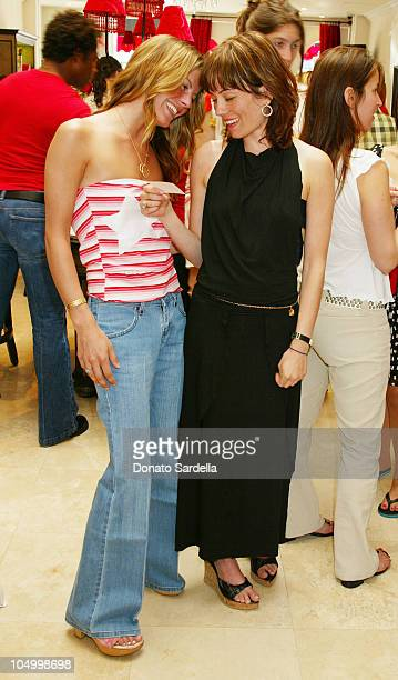 Courtney Wagner Natasha Gregson Wagner during Lola Cosmetics and Lucky Magazine Party in Los Angeles California United States