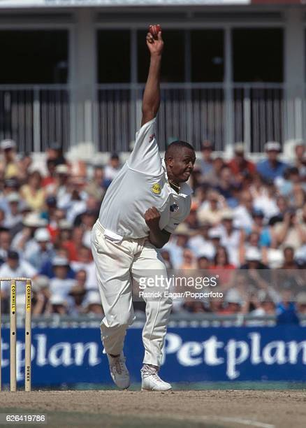 Courtney Walsh bowling for West Indies during the 5th Test match between England and West Indies at The Oval London 31st August 2000
