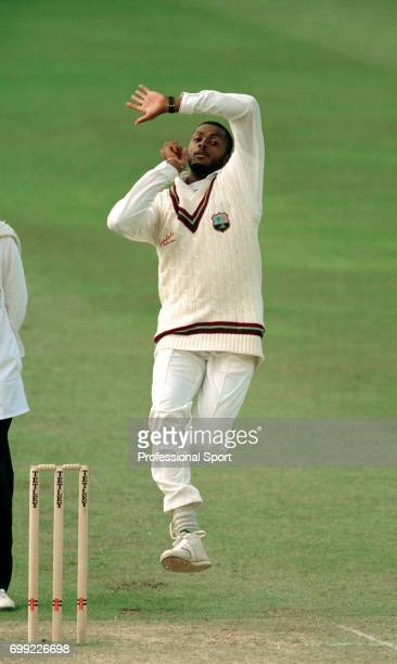 Courtney Walsh bowling for West Indies during the tour match between Somerset and West Indies at Taunton 20th May 1995