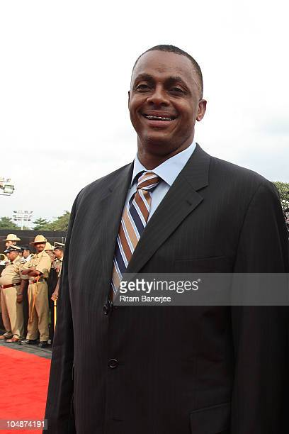 Courtney Walsh during the ICC Annual Awards at the Red Carpet on October 6 2010 in Bangalore India