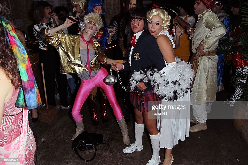 courtney yates stacy kimball and julia dimon attend a halloween costume party at nikki