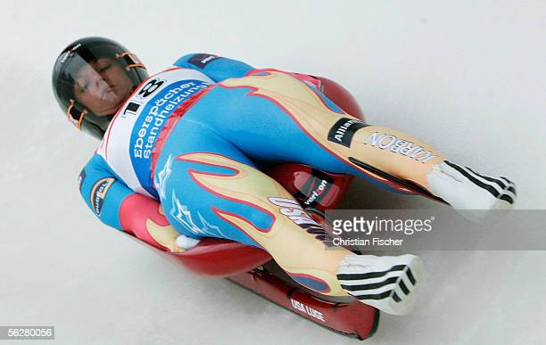 Courtney Zablocki of United States in action during the womans single Viessmann Luge World Cup on November 27 2005 in Altenberg near Dresden Germany