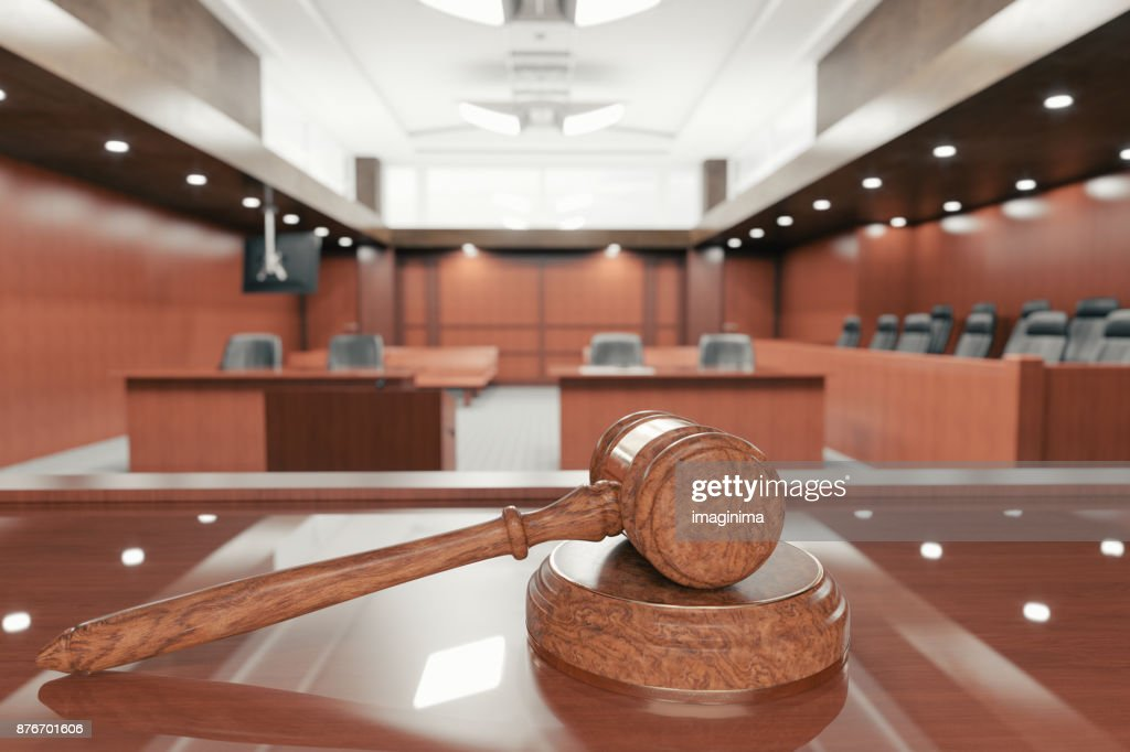 Courtroom And Gavel : Stock Photo