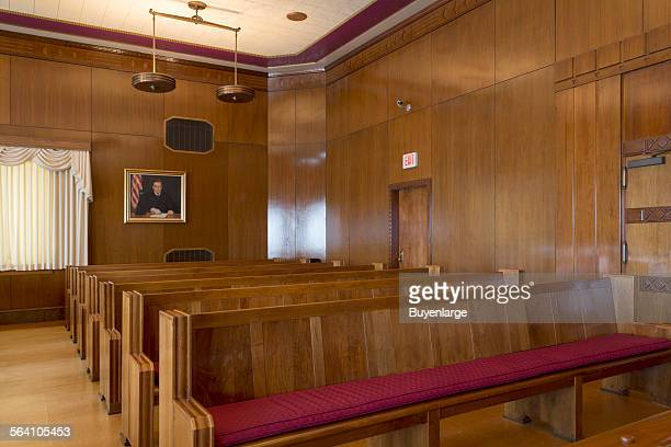 Courtroom at US Post Office and Courthouse Galveston Texas