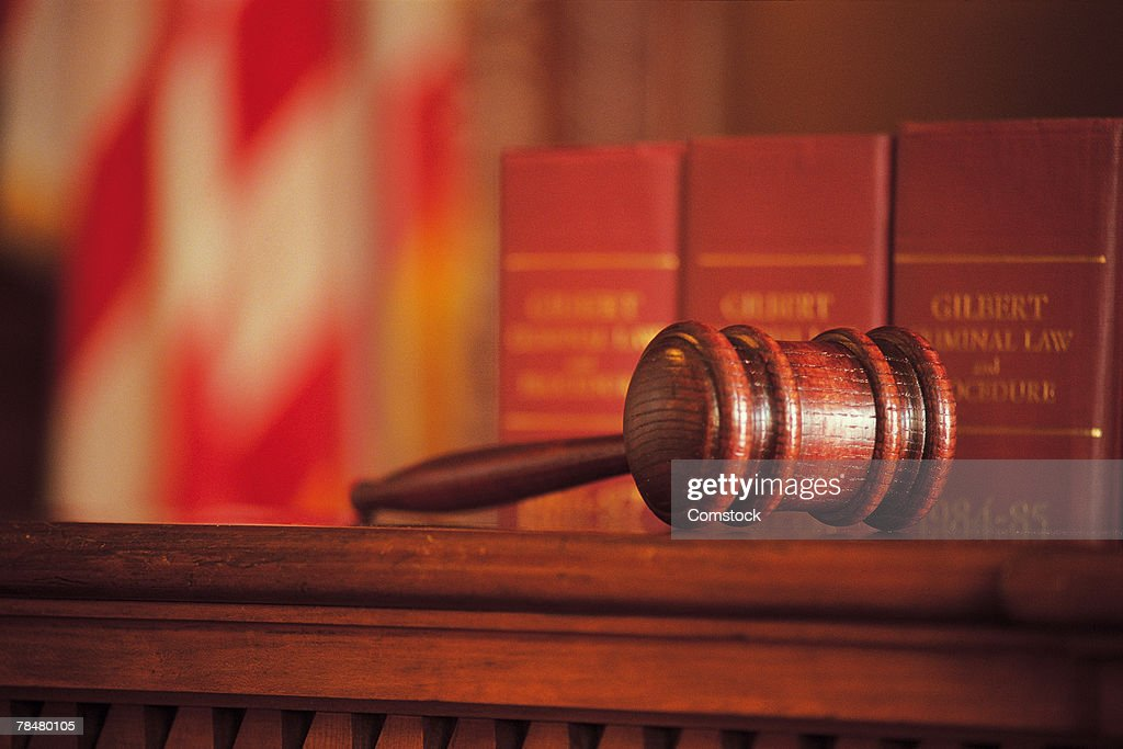 Courtroom gavel : Stock Photo