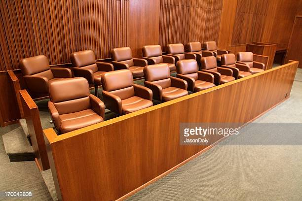 courtroom jury box - courtroom stock pictures, royalty-free photos & images