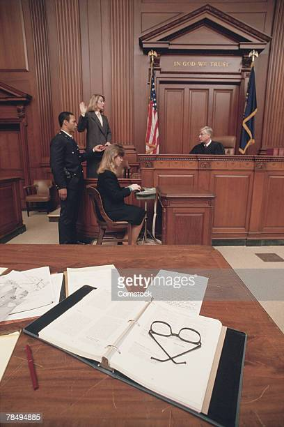 courtroom scene - legal trial stock pictures, royalty-free photos & images
