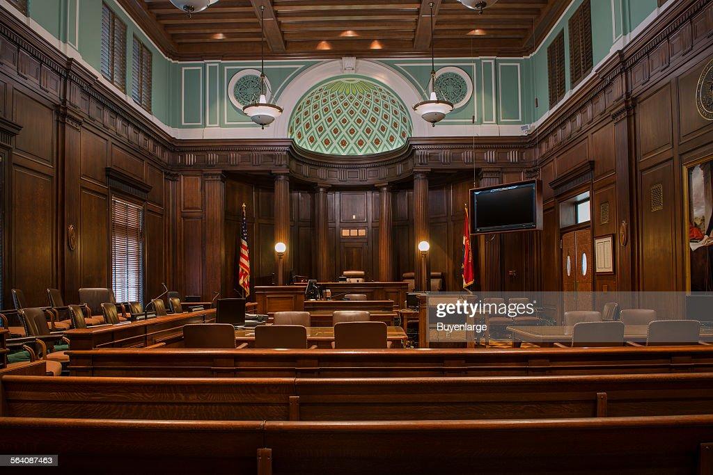 Courtroom. U.S. Court House, Augusta, Georgia : News Photo