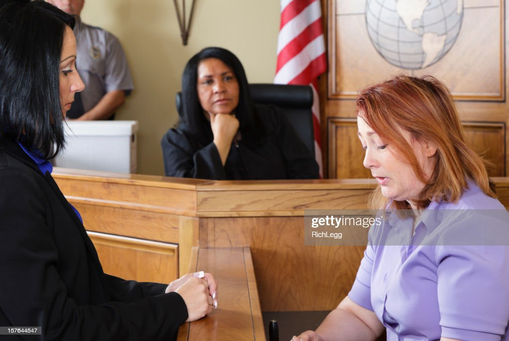 Courtroom Witness : Stock Photo