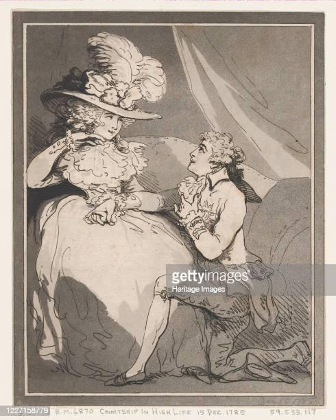 Courtship in High Life December 15 1785 Artist Thomas Rowlandson