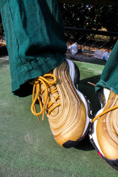 courtside - basketball sneakers close up stock pictures, royalty-free photos & images