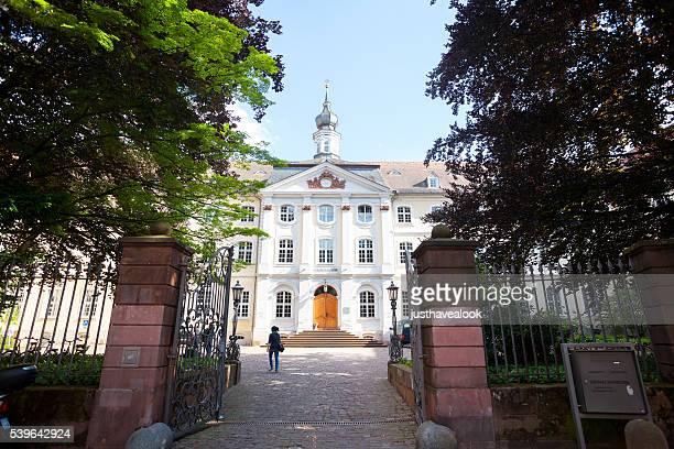 courtyard and carolinum of university heidelberg - heidelberg stock photos and pictures