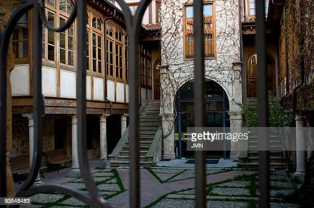 Courtyard and gallery of the catering school in the building of the old Veracruz boarding house Salamanca Autonomous Community of CastileLeon Spain...