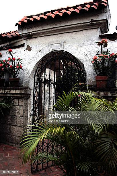Courtyard and gate at Casa Manila in Intramuros or Old Manila. Most of the Spanish-Colonial buildings are gone, no thanks to bombing in WWII, however...
