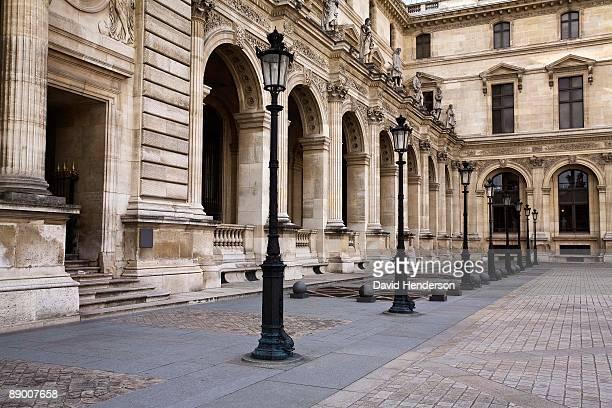 Courtyard by building, Louvre Museum, Paris, France