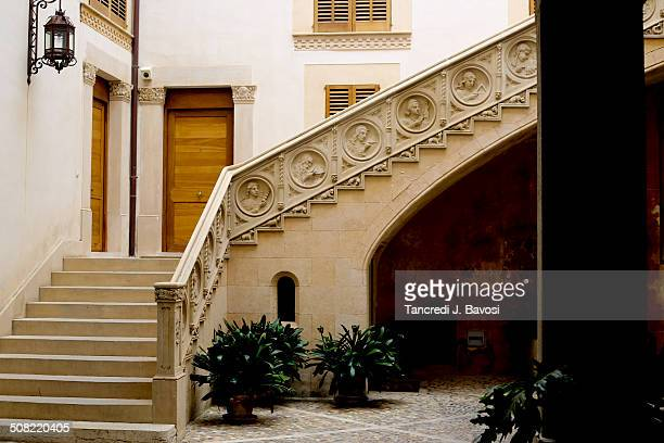 courtyard in palma - bavosi stock pictures, royalty-free photos & images