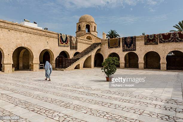 courtyard in the great mosque - sousse stock pictures, royalty-free photos & images