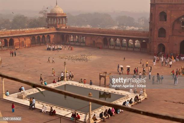 Courtyard inside the Jama Masjid in Delhi