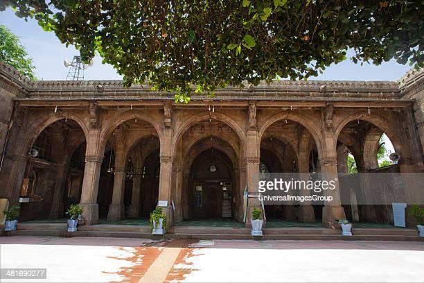 Courtyard of a mosque Sidi Saiyyed Mosque Ahmedabad Gujarat India