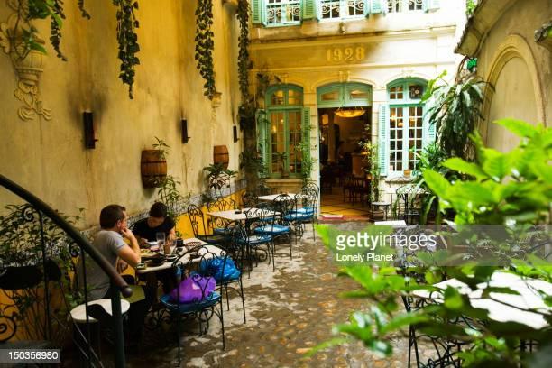Courtyard of Green Tangerine Restaurant, Old Quarter.