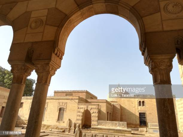 Courtyard of Hosh al-Basha complex in the Southern Cemetery of Cairo