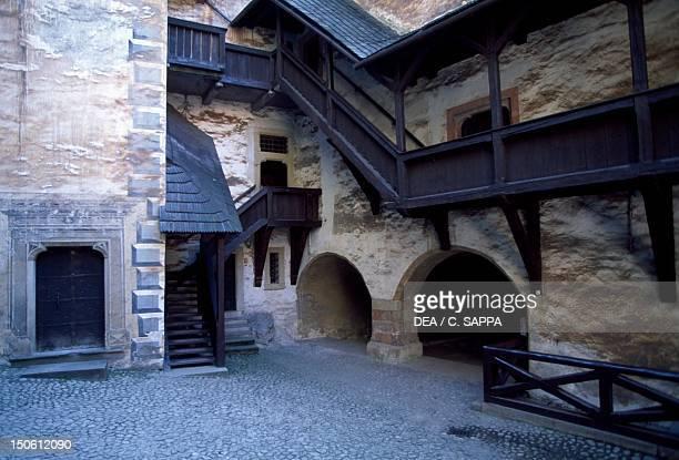 Courtyard of Orava Castle, Oravsky Podzamok, Zilina. Slovakia.